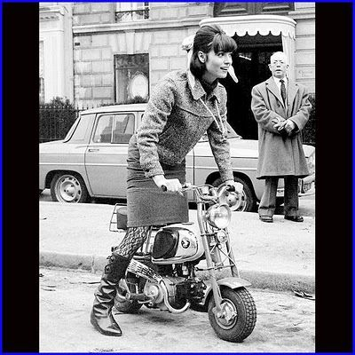 Elsa Martinelli aboard what looks like a Honda Scooter/Monkey bike