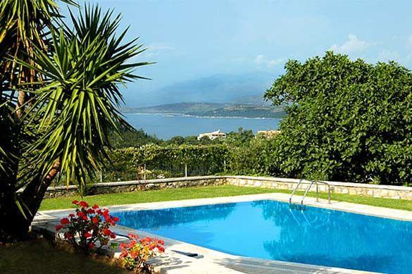 Villa Mangana, Kalami, Corfu, Greece. Find more at www.villaplus.com