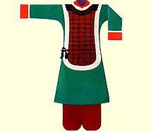Vestidura usada por los guerreros de la Etnía Han.