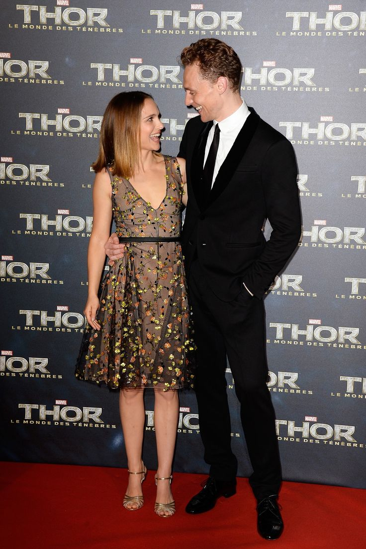 Tom Hiddleston, Natalie Portman, Alan Taylor and Kevin Feige attend 'Thor: The Dark World' Premiere at Le Grand Rex on October 23, 2013 in Paris, France [HQ]