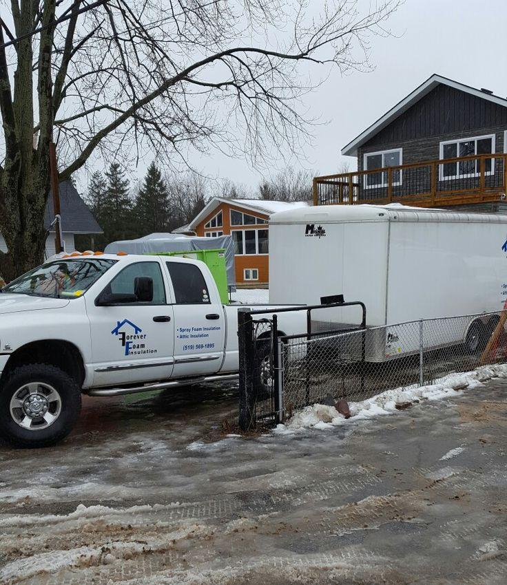 Today in Cambridge Ontario cellulose attic insulation new construction.