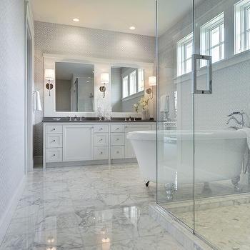White Marble Tiled Floor