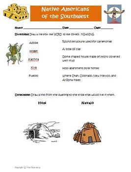 free southwest native americans worksheet modified for lower level learners z already pinned. Black Bedroom Furniture Sets. Home Design Ideas