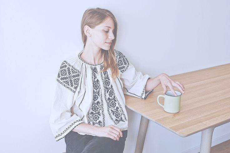 Photography: Copyright - Folkwear Society/Model: Adela Niculae