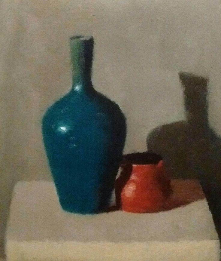 Blue Vase & Orange Jug - By Steven Szczebiot