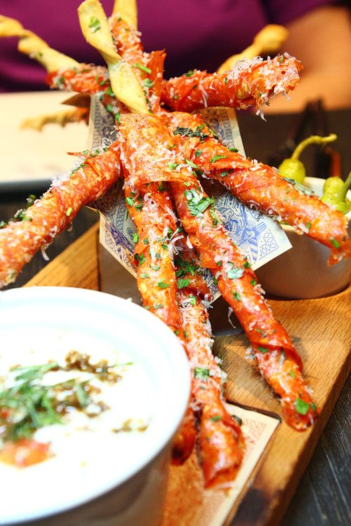 Guy Fieri's Vegas Kitchen & Bar - The Quad - Las Vegas - Restaurants - Guy-talian Findue Dippers