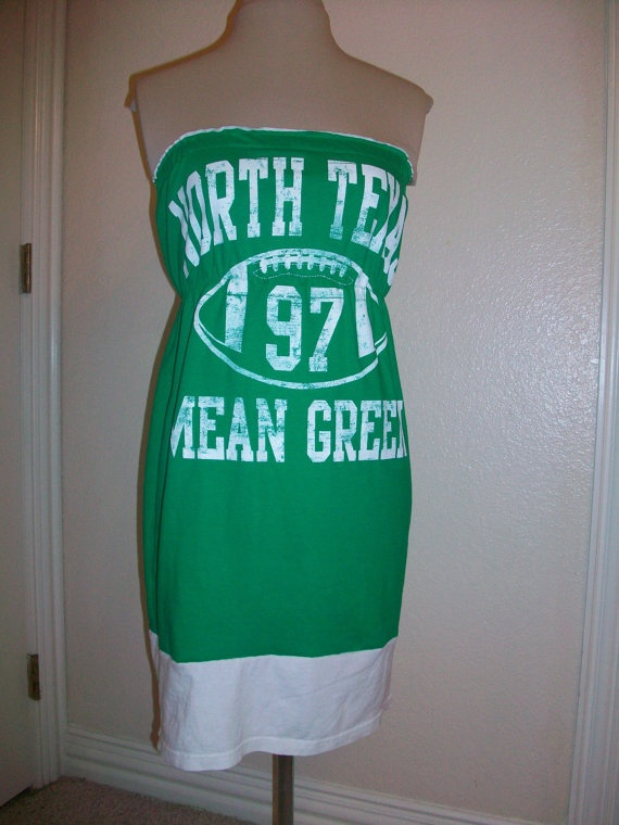 Mean Green Gameday Strapless by Deetails. perfect for football season