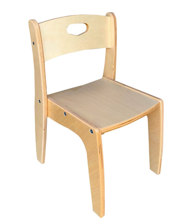 Sedia in legno per bambini stile montessoriano. Disponibile in tutte le altezze e in diversi colori. Per cameretta.