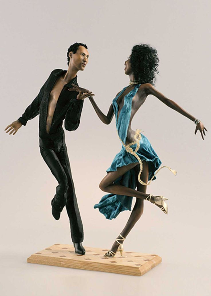 This work beautifully captures the body positions and attitude of professional ballroom dancers. джайв