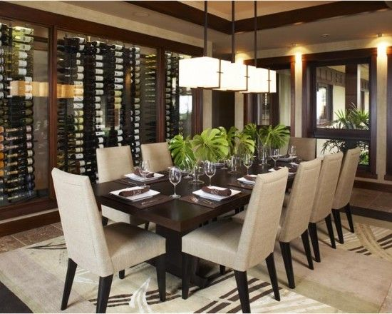 Asian Dining Room Modern Interior Door Design, Pictures, Remodel, Decor and Ideas