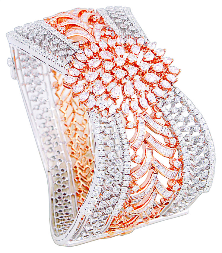 Diamond studded bracelet by Notandas & Sons Jewellers