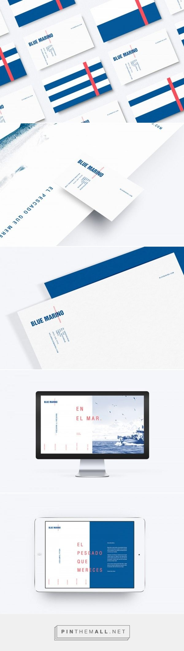 Blue Marino - Fish Market Brand Identity Design