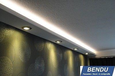 BENDU LED Stuckleisten für indirekte Beleuchtung Stuckprofile aus Hartschaum