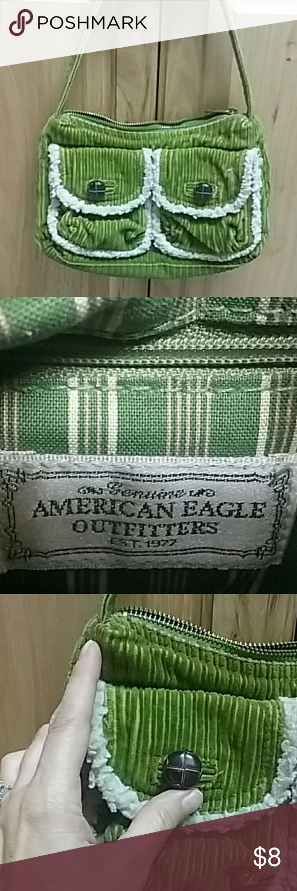Handbag American Eagle Outfitters Small green corduroy handbag American Eagle Outfitters Bags Mini Bags