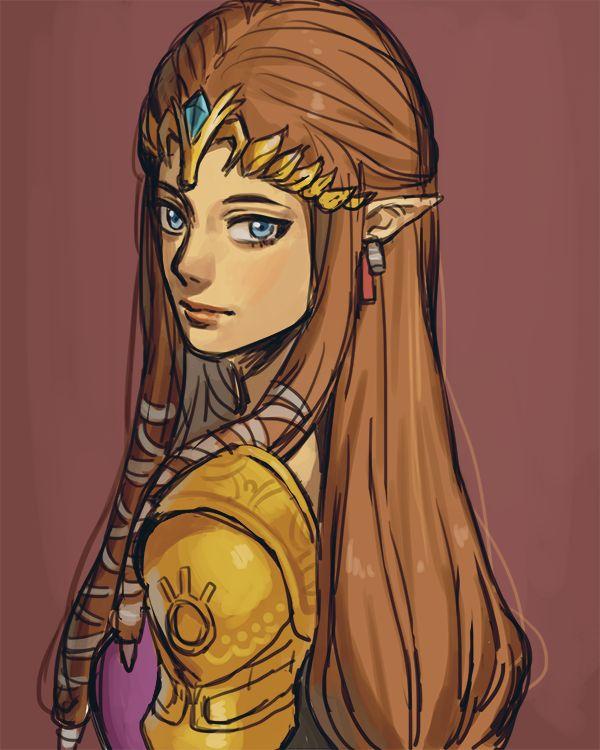 Princess Zelda by mellalyss