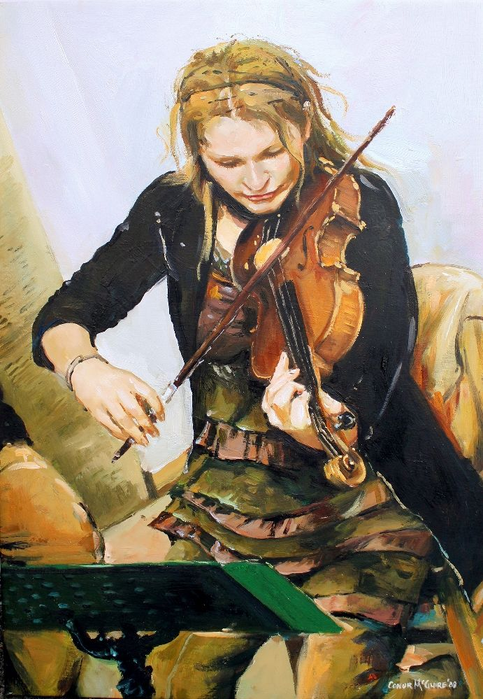 The Violinist by Conor Mcguire on ArtClick.ie Irish Music Art