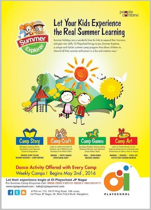 Summer camp @ Oi Playschool JP Nagar