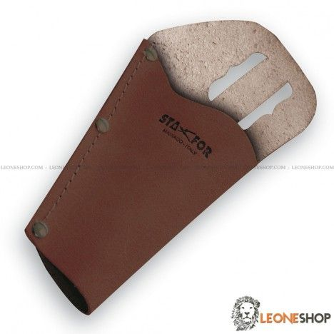 Leather Sheath for pruning shears STAFOR Italy, sheaths for shears and saws of high quality, equipped with belt loop that allows maximum practicality while you work - Gardening and Pruning sheath for shears, a truly exceptional product with quality materials, light and useful - For sale online sheaths for shears and saws STAFOR Italy - LEONESHOP.COM - Gardeing and pruning sheaths and sharpening stones for sale online