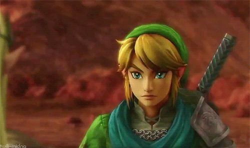 Hyrule Warriors Link smiling. Omg, too much. Stop *Fangirl death*