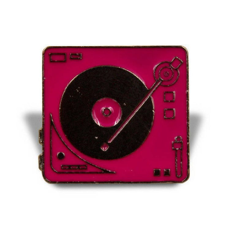 TURNTABLE PINS: Pins For Jackets, Vinyl Records, Enamel Pin, Turntable Pin, Record Player, Pink, Music Pin, EDM, Dj, , Gift Idea by VinylLoversUnite on Etsy