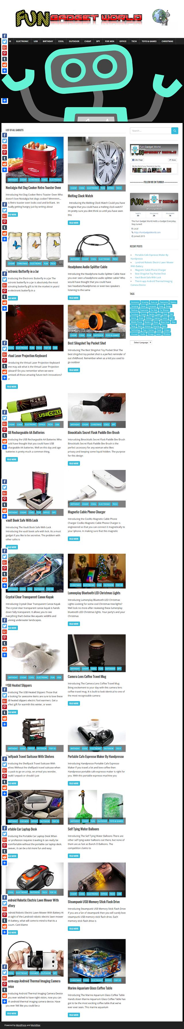 Fun Gadget World online website is purposely dedicated to bringing you nothing more but the best cheapest gadgets from all over the internet. This is almost the very best site on the internet to find low cost, amazing and cool gadgets that are actually really useful.
