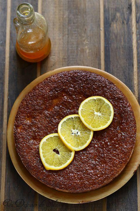 Gâteau moelleux à l'orange et polenta (sans beurre et sans gluten)