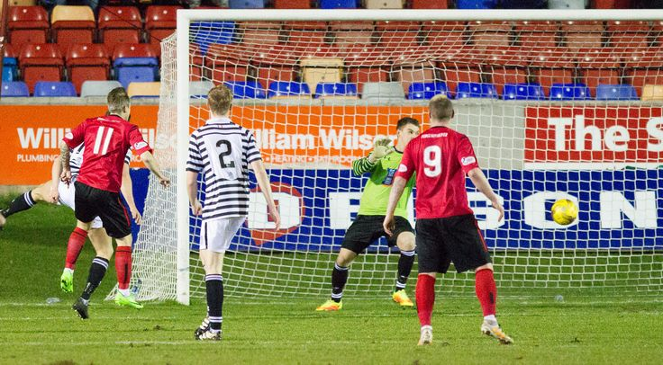 Brechin City's Ally Love scores during the Ladbrokes League One game between Brechin City and Queen's Park.
