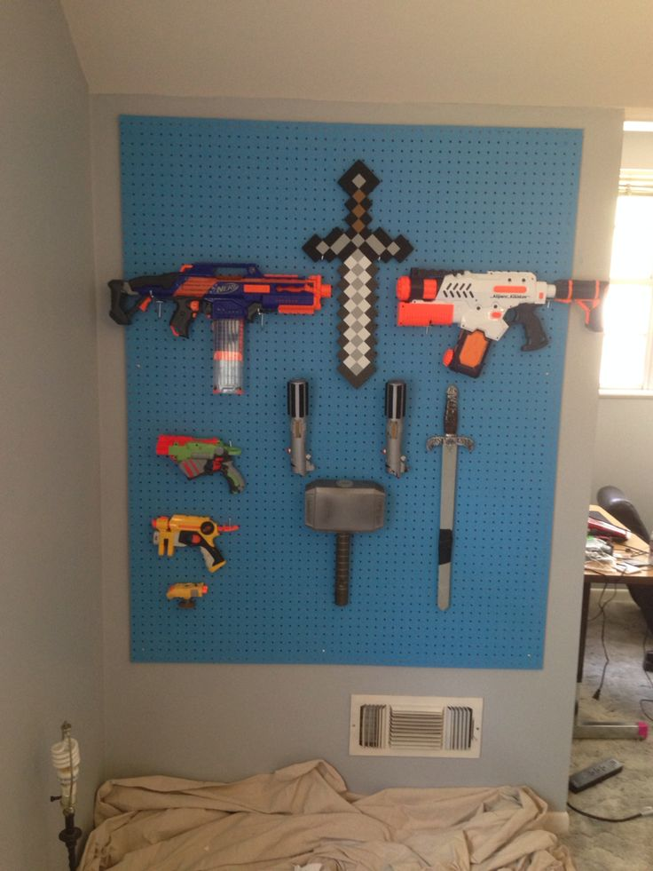 An Armory Peg Board Wall For A Pre Teen Boy S Room Eryn