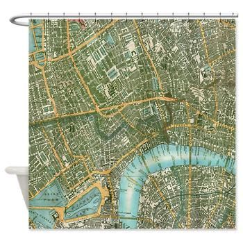 London Shower Curtain - Street map of London -  Home Decor -  travel decor wanderlust - maps by Mapology on Etsy https://www.etsy.com/listing/164822448/london-shower-curtain-street-map-of
