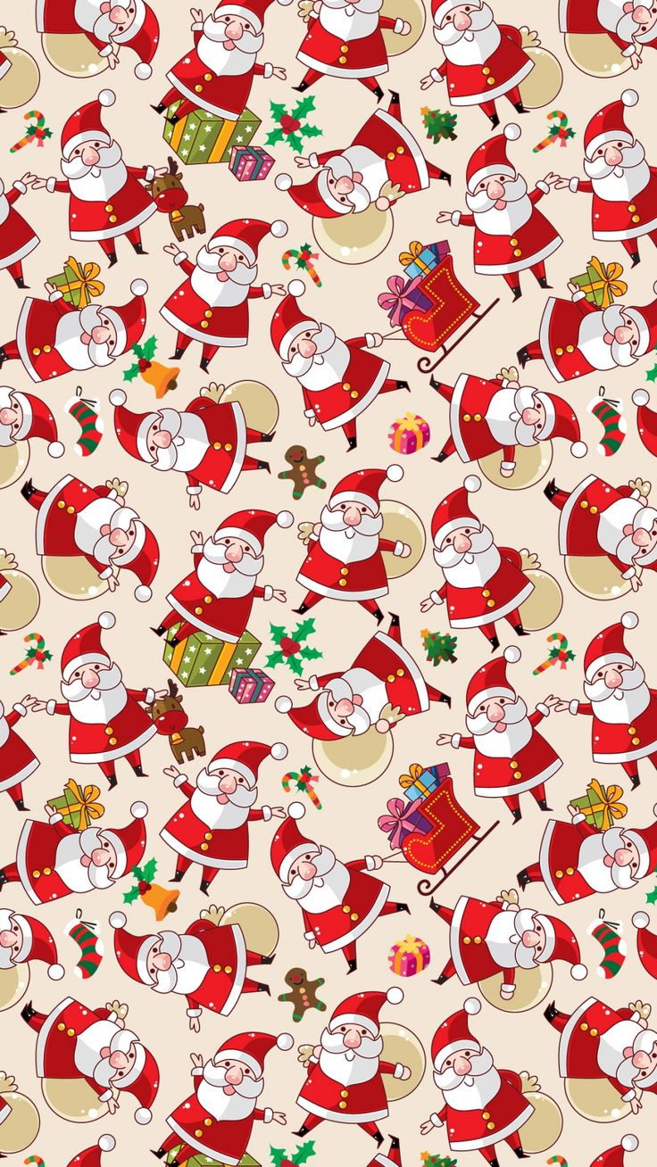 Santa Claus Pattern Texture Background iPhone 6 wallpaper