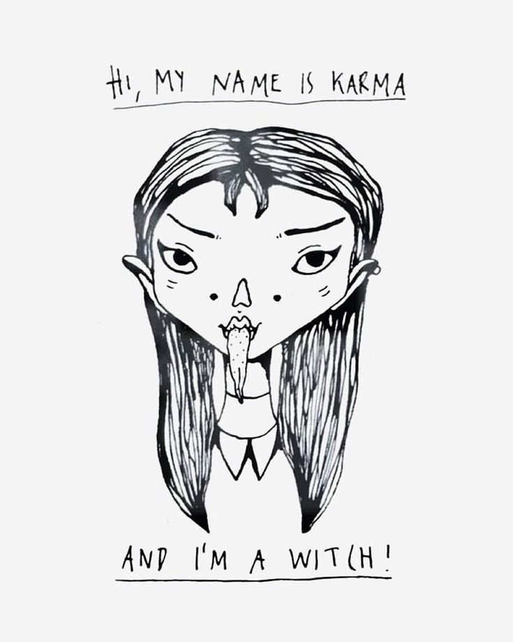 hi, my name is karma and i'm a witch Ⓒ tuesday wednesday