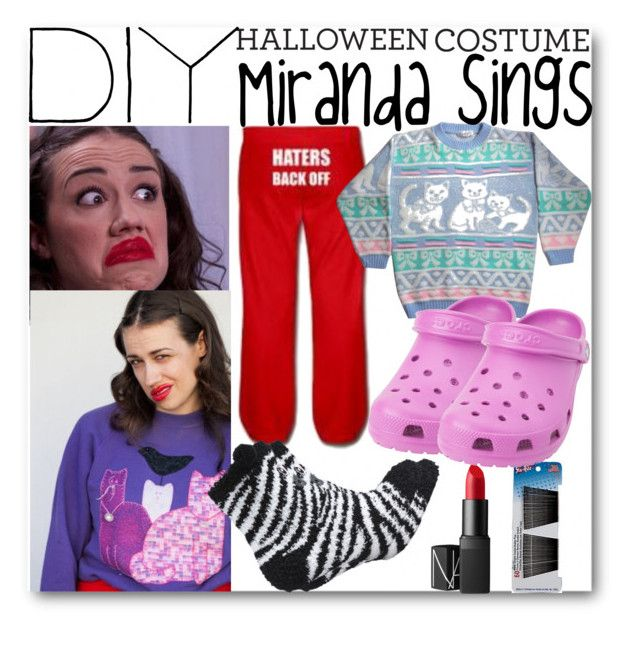 """DIY Miranda Sings Costume"" by llavenderdreams77 ❤ liked on Polyvore featuring NARS Cosmetics, Crocs, contestentry and diycostume"