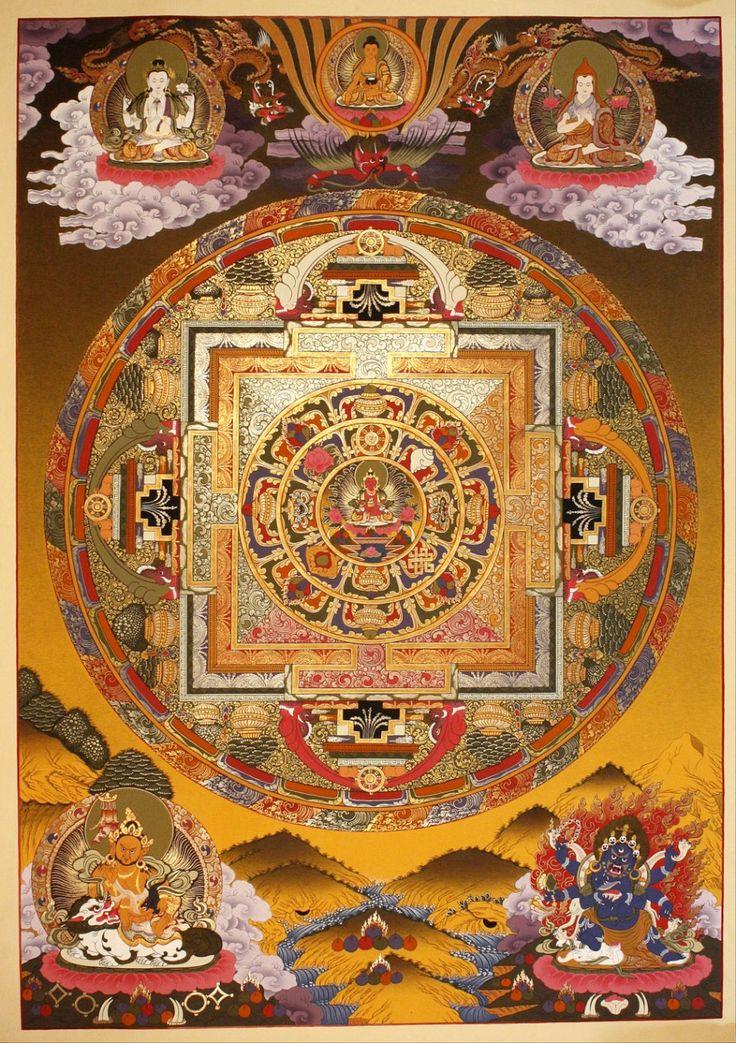 Tibetan Mandala Thangka Painting