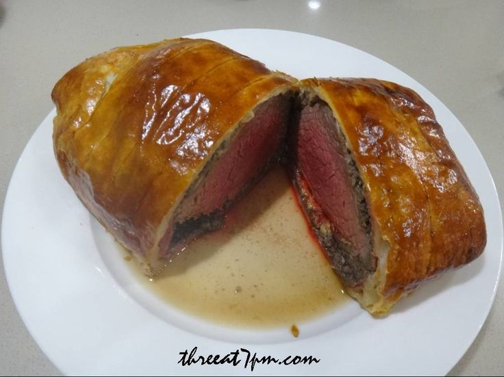 "Ramsay's ""Fool-Proof"" Beef Welington recipe with step-by-step photos to help prepare the dish. weblink: http://threeat7pm.com/2012/06/18/gordon-ramsays-fool-proof-beef-wellington/"