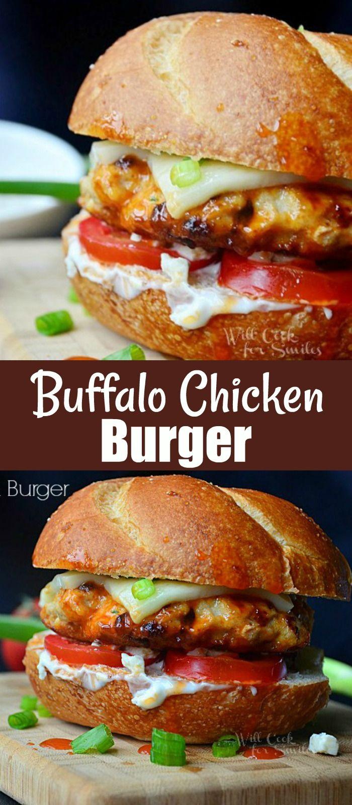 Buffalo Chicken Burger In 2020 Chicken Burgers Buffalo Chicken Burgers Grilling Recipes