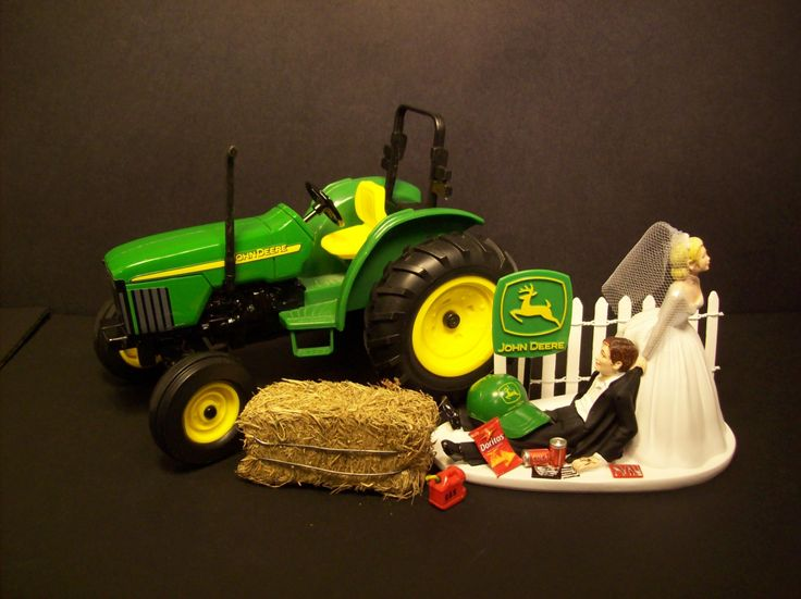 No Farming JOHN DEERE Die Cast TRACTOR Bride and by mikeg1968 ...