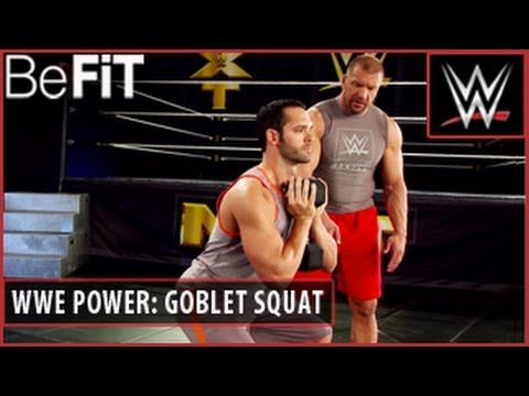 WWE Power Series: Goblet Squat Strength Training Workout- Triple H - YouTube