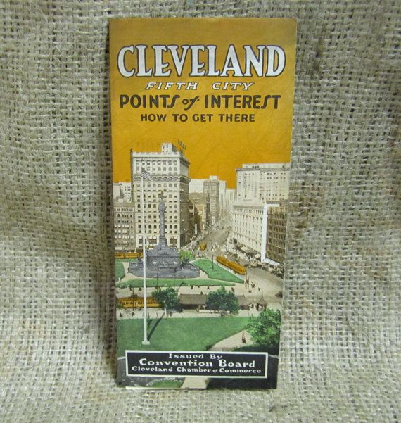 Vintage Map of Cleveland Ohio 1925 Point Of by thebombshelter1, $14.95