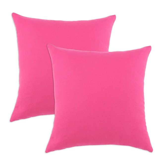 duck french pink sbacked fiber pillows set of duck french pink fiber pillow size 17 x 17 cotton solid color