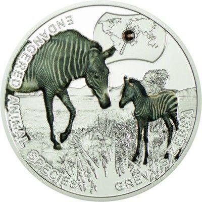 1 Dollar Silber Bedrohte Tierarten - Grevy Zebra PP