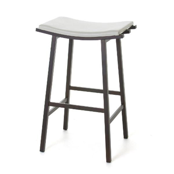 """Nathan Stationary Stool - Viking Casual Furniture. From Amisco  Available in: 26"""" and 30"""" Padded Memory Swivel Seat. Available in 12 metal finishes. Dozens of seat fabrics. Four Wood finishes to choose from."""