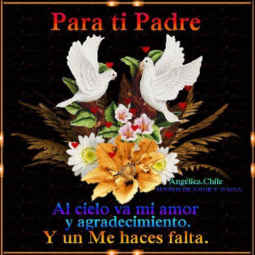 SUEÑOS DE AMOR Y MAGIA: Al cielo mi amor Papá