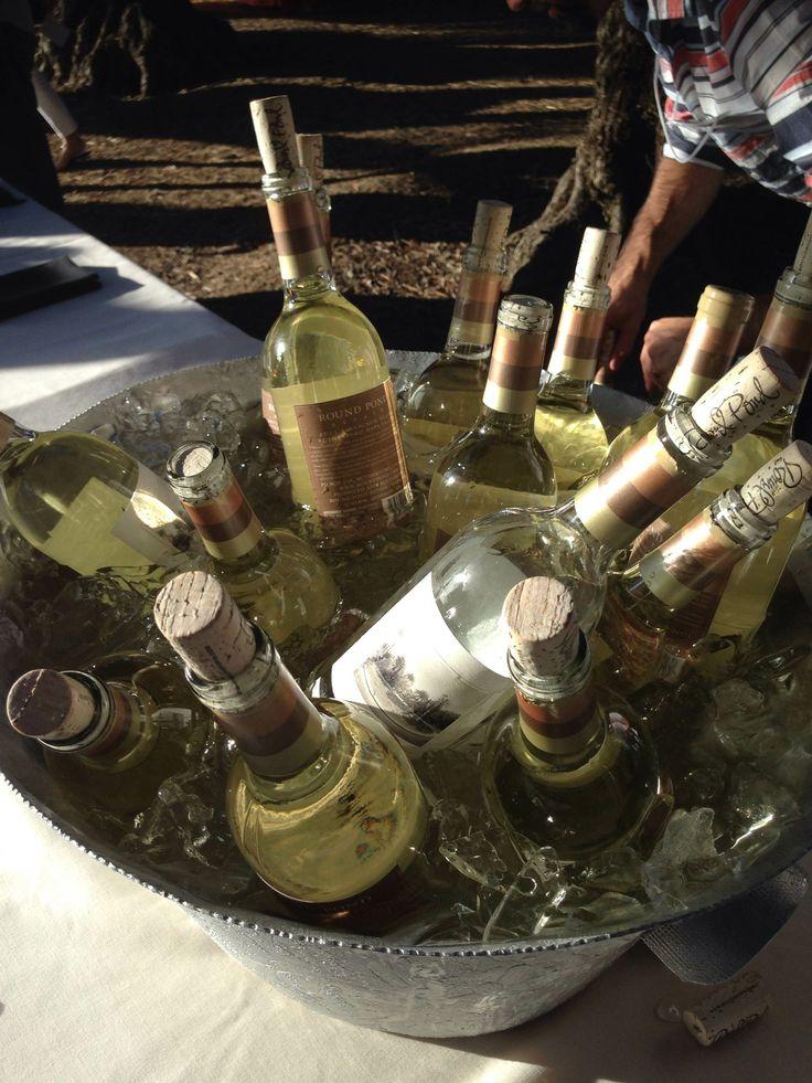 Bucket of Round Pond Estate Sauvignon Blanc at Round Pond Estate's Summer Solstice Party.