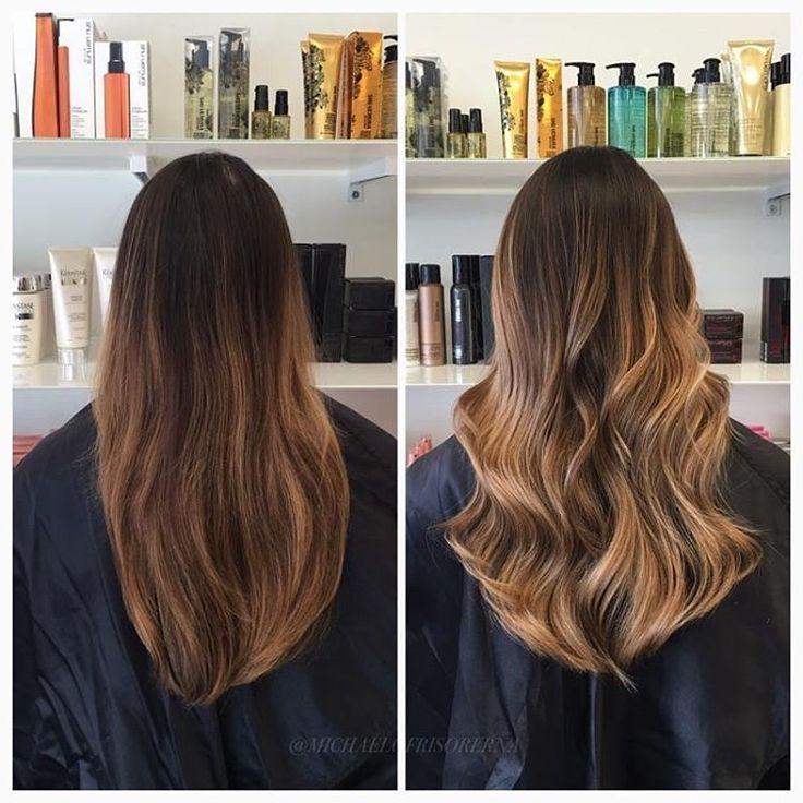 Här har vi slingat håret med balayageteknik och sparat kundens naturliga botten.  Vi avslutar med kerastase fusiodose för ett friskt och glansigt hår. Fråga gärna din frisör om denna behandling berättar vi mer och kan skräddarsy en kur åt just ditt hår❣ #fusiodose #kerastase #balayagehair