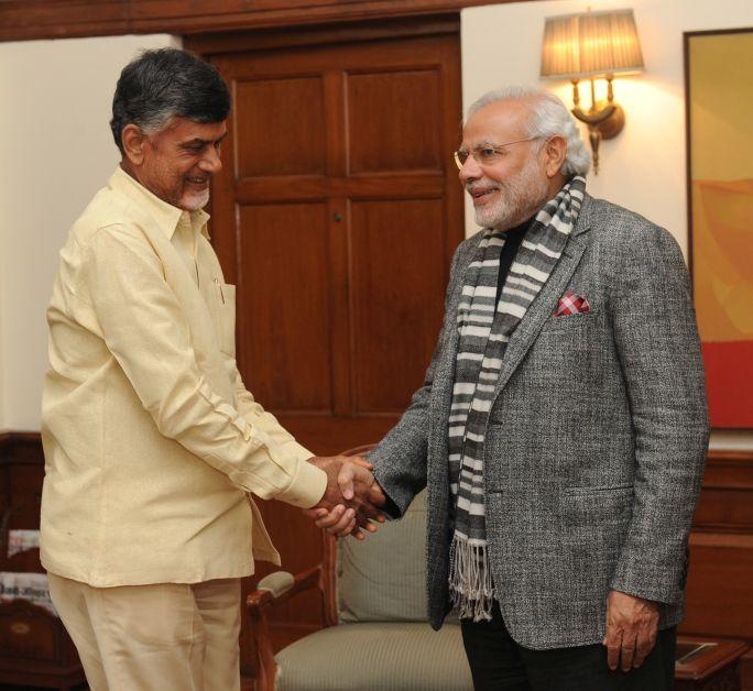 CM of Andhra Pradesh N. Chandrababu Naidu called on PM Modi