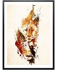 El Guepardo-Framed Art Print