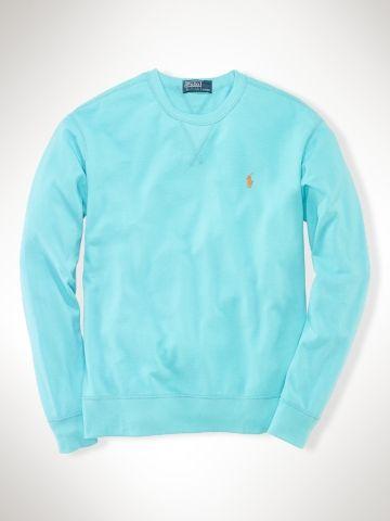 Athletic Cotton Mesh Crewneck - Polo Ralph Lauren Sweatshirts - RalphLauren.com