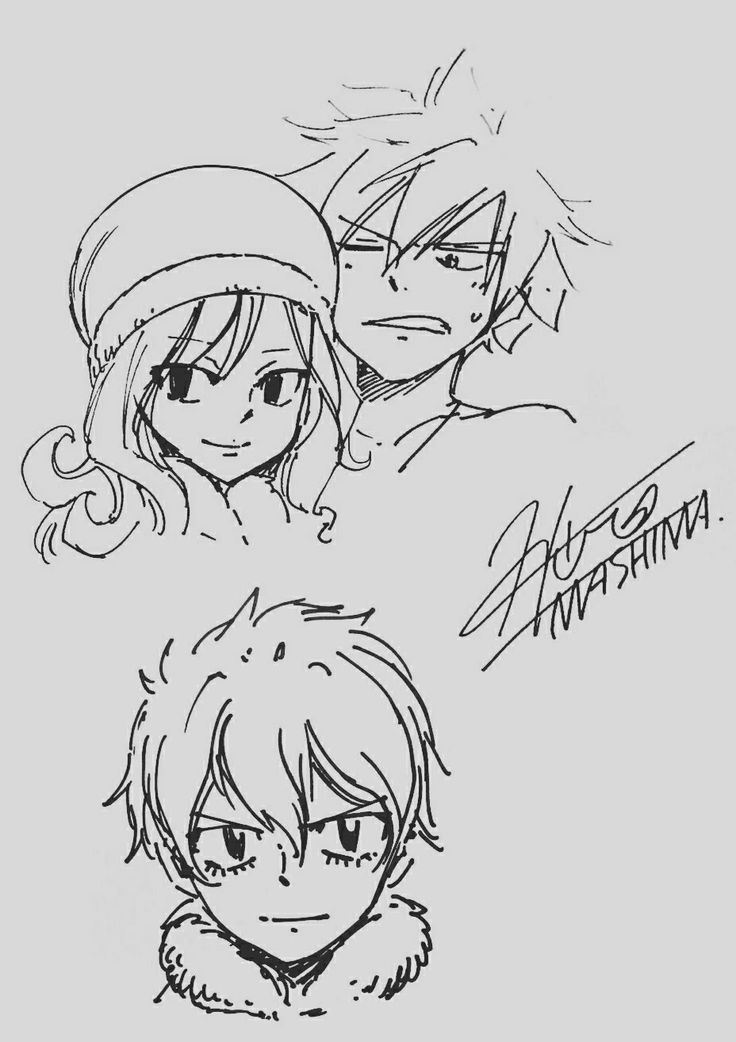 Gray, Juvia and Snow || Hiro Mashima || Fairy Tail