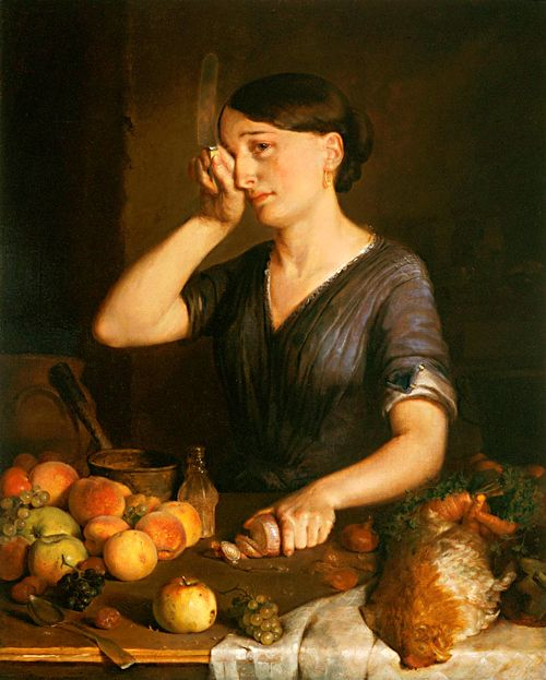 Peeling Onions - by Lilly Martin Spencer