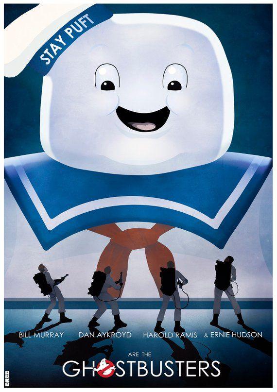 Ghostbusters Stay Puft Marshmallow Man Movie Film Alternative retro Poster Print